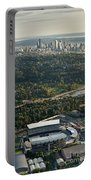 Seattle Skyline With Aerial View Of The Newly Renovated Husky St Portable Battery Charger