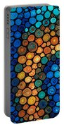 Second Chances - Abstract Art By Sharon Cummings Portable Battery Charger