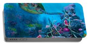 Secret Sanctuary - Hawaiian Green Sea Turtle And Reef Portable Battery Charger