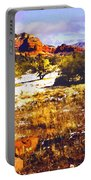 Sedona Winter Painting Portable Battery Charger
