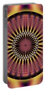 Seed Of Life Kaleidoscope Portable Battery Charger