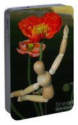 Seeking A Yellow Brick Road Number One Poppy  Portable Battery Charger