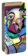 Self Portrait 101 Portable Battery Charger by Anthony Falbo