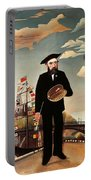 Self Portrait Portable Battery Charger by Henri Rousseau