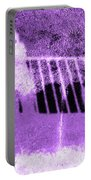 Self Portrait In Lavender Looking Down Over The Rails Portable Battery Charger