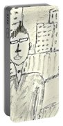 Self-portrait In Ny Portable Battery Charger