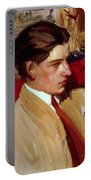 Self Portrait In Profile Portable Battery Charger by Joaquin Sorolla y Bastida