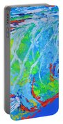 semi abstract Mahi mahi Portable Battery Charger