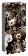 Sepia Asters Portable Battery Charger