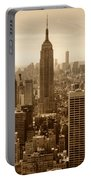 Sepia Empire State Building New York City Portable Battery Charger