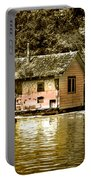 Sepia Floating House Portable Battery Charger