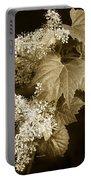 Sepia Flower Vine Portable Battery Charger