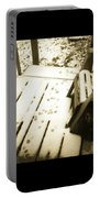 Sepia - Nature Paws In The Snow Portable Battery Charger
