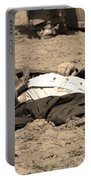 Sepia Rodeo Gunslinger Victim Portable Battery Charger