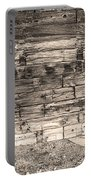 Sepia Rustic Old Colorado Barn Door And Window Portable Battery Charger by James BO  Insogna