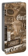 Sepia Toned Signs Of Coca Cola Portable Battery Charger