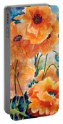 September Orange Poppies            Portable Battery Charger by Kathy Braud