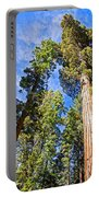 Sequoias Reaching To The Clouds In Mariposa Grove In Yosemite National Park-california Portable Battery Charger