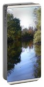 Serenity Pond Reflection At Limehouse Ontario Portable Battery Charger