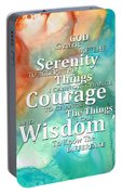 Serenity Prayer 1 - By Sharon Cummings Portable Battery Charger