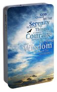 Serenity Prayer 3 - By Sharon Cummings Portable Battery Charger