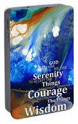 Serenity Prayer 4 - By Sharon Cummings Portable Battery Charger