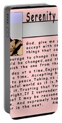 Serenity Prayer Portable Battery Charger