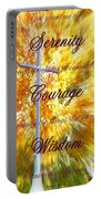 Serenity Prayer II By Bobbee Rickard Portable Battery Charger