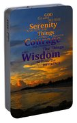 Serenity Prayer Sunset By Sharon Cummings Portable Battery Charger