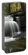 Serenity Waterfalls Landscape Portable Battery Charger by Christina Rollo