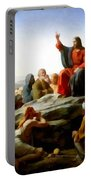 Sermon On The Mount Watercolor Portable Battery Charger by Carl Bloch
