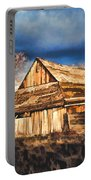 Setting Sun Gathering Storm And Old Homestead Portable Battery Charger