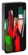 Seven Bottles Of Wine On The Wall Portable Battery Charger by Elaine Plesser