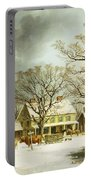 Seven Miles To Salem Portable Battery Charger by George Henry Durrie