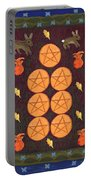 Seven Of Pentacles Portable Battery Charger