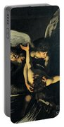 Seven Works Of Mercy Portable Battery Charger by Caravaggio