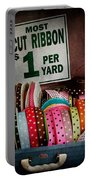 Sewing - Ribbon By The Yard Portable Battery Charger by Mike Savad