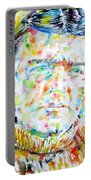 Shackleton - Watercolor Portrait Portable Battery Charger