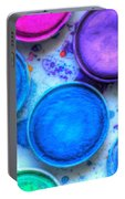 Shades Of Blue Watercolor Portable Battery Charger