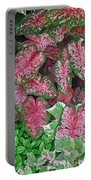 Shades Of Pink And Green And A Hint Of Purple Portable Battery Charger
