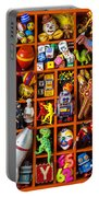 Shadow Box Full Of Toys Portable Battery Charger
