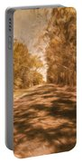 Shadows On Autumn Lane Portable Battery Charger