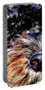 Shaggy Black Dog Portable Battery Charger
