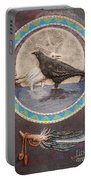 Shaman Black Raven And His Mate Medicine Woman Blue Fairy Animal Spirit Medicine Wheel Portable Battery Charger