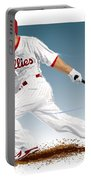Shane Victorino Portable Battery Charger by Scott Weigner