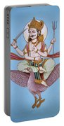Lord Shani Riding Bird Portable Battery Charger