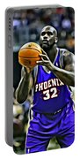 Shaquille O'neal Portable Battery Charger by Florian Rodarte
