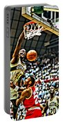 Shawn Kemp Painting Portable Battery Charger by Florian Rodarte