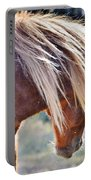 She Tossed Her Mane - Wild Pony Of Assateague Portable Battery Charger