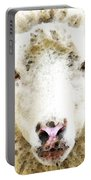 Sheep Art - White Sheep Portable Battery Charger